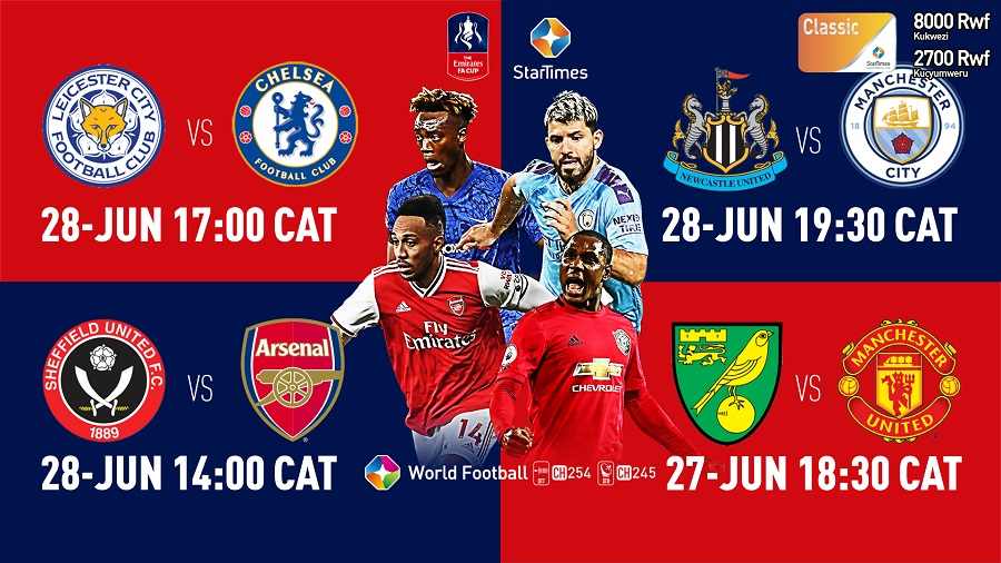 Watch Emirates FA Cup with StarTimes, Only eight teams remaining in the FA Cup