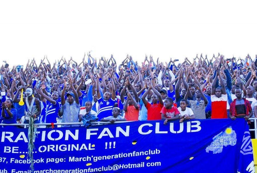 March Generation Fan club yacitsemo ibice biyiviramo kuva ku rutonde rwa Fan Club za Rayon Sports