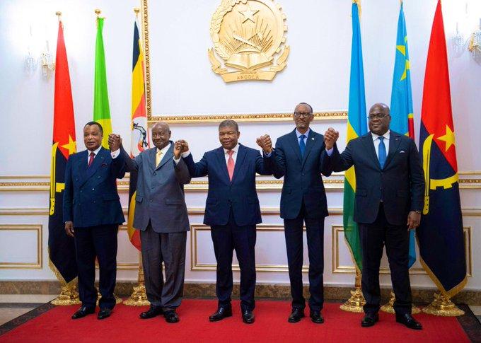 Perezida Kagame yitabiriye inama yatumiwemo na Felix Tshisekedi itabonetsemo Perezida Ndayishimiye