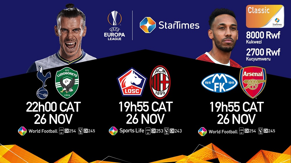 Watch UEFA Europa League on StarTimes  Arsenal and Leicester a win away from the knock-out stage