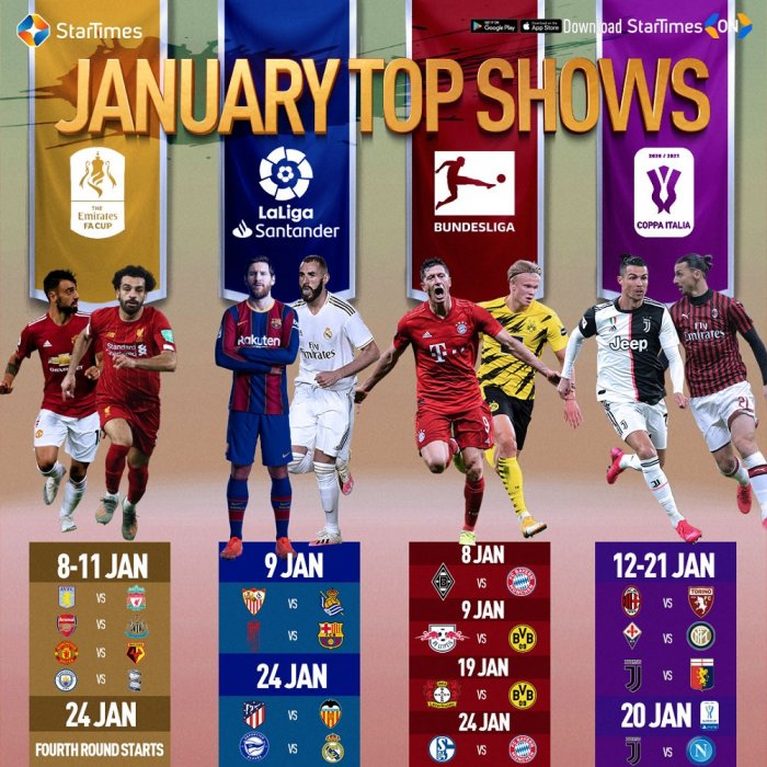 January means football on StarTimes